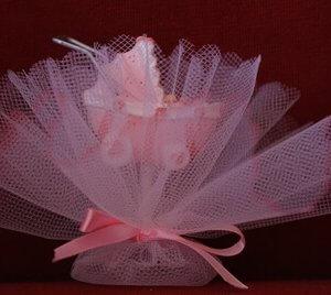 Geboortebedankje 'Kinderwagen' (roze)