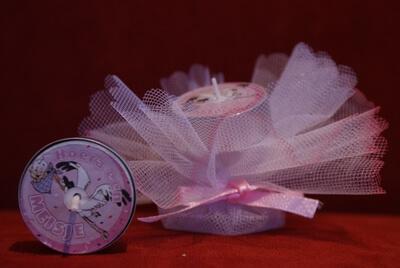 Geboortebedankje 'Waxinelichtje Geboorte' (roze)