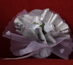 Bruiloft bedankje 'Rozen' (zilver)
