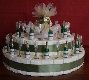 Bedankjestaart 'Champagne'