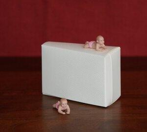 Taartpunt 'Baby met roze onderbroekje'