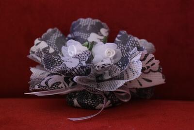 Bruiloft bedankje 'Roosjes' (zwart-wit)