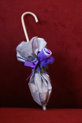 Bruiloft bedankje 'Paraplu' (zilver)