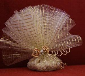 Bruiloft bedankje 'Roosjes' (goud)