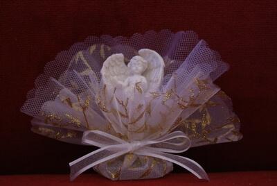 Communie bedankje 'Engel met vleugels' (Goud)