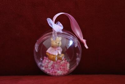 Geboorte bedankje 'Beertje in Bol' (roze)