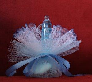 Geboortebedankje 'Groot Zuigflesje Papflesje' (blauw)