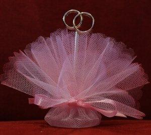 Bruiloft bedankje 'Trouwringen' (roze)