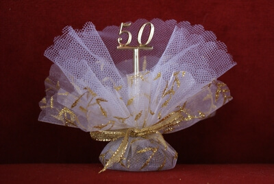 Jubileumbedankje '50' (goud)