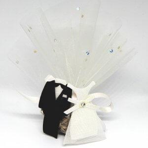Bruiloft Bedankje 'Bruidskleding' (wit)