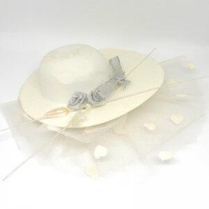 Bruiloft Bedankje 'hoedje' (wit)