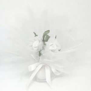 Bruiloft Bedankje 'Roosjes' (wit)
