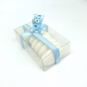 Geboortebedankje 'Doosje Beertje' (blauw)