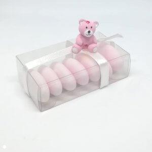 Geboortebedankje 'Doosje Beertje' (roze)