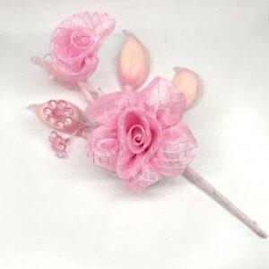 Islamitisch Bruiloft Bedankje 'Bloem drageehouder' (roze)