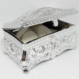 Islamitisch Bruiloft Bedankje 'Oosters Sieradenkistje' (zilver)