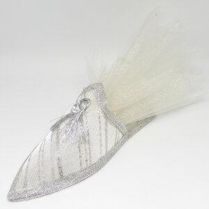 Islamitisch Bruiloft Bedankje 'Schoentje' (Zilver) -Simpel
