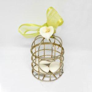 Islamitisch Bruiloft/Geboorte Bedankje 'Vogelkooitje' (goud)